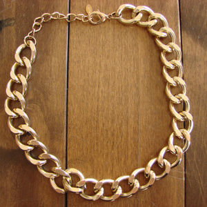 Aldo Gold Tone Chunky Necklace ~ Adjustable